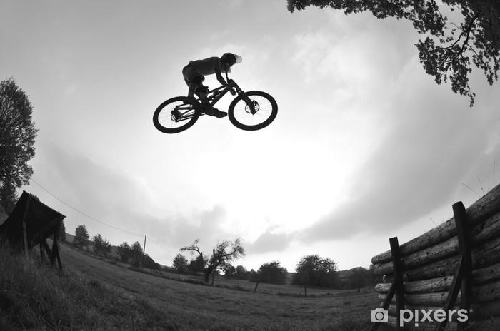mountain bike jump Vinyl Wall Mural - Bikes