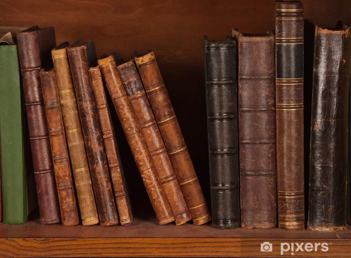 Papier Peint Livres Anciens Sur Etagere Pixers Nous Vivons Pour