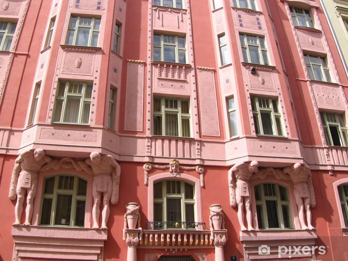 Papier peint vinyle Superbe façade baroque a Prague - Villes européennes