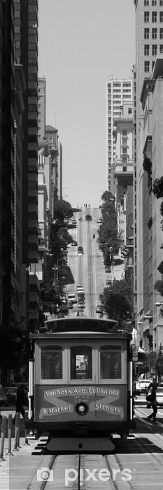 Papier peint vinyle Téléphérique à San Francisco - Amérique