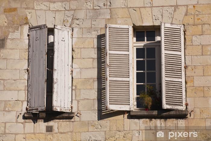 Verbazingwekkend Fotobehang Franse luiken en ramen in Vieux Tours, Frankrijk OX-13