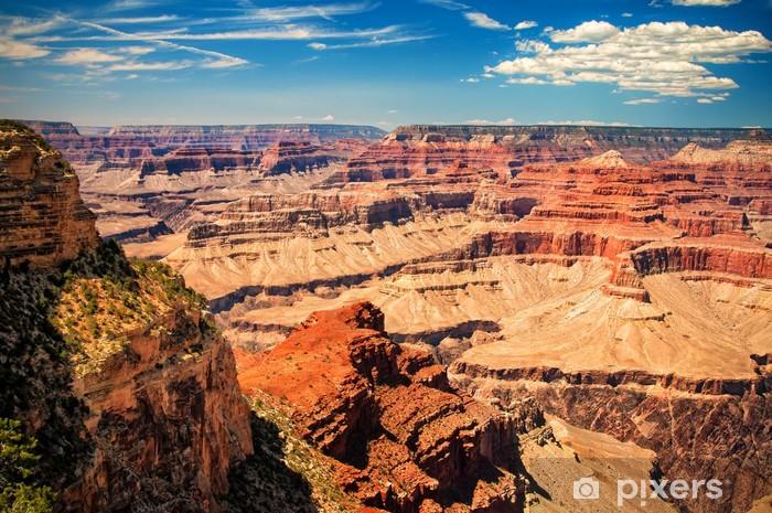 Pixerstick Aufkleber Grand Canyon sonnigen Tag mit blauem Himmel - Themen