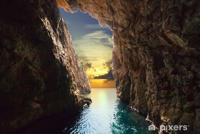 Pixerstick Dekor Insidan av grotta i stigande - Teman