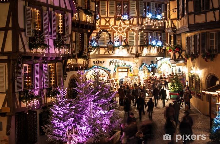 Colmar Weihnachtsmarkt.Aufkleber Weihnachtsmarkt In Colmar Im Elsass Pixerstick