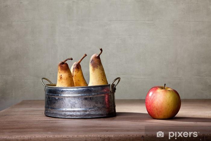 Vinyl-Fototapete Äpfel und Birnen - Gerichte