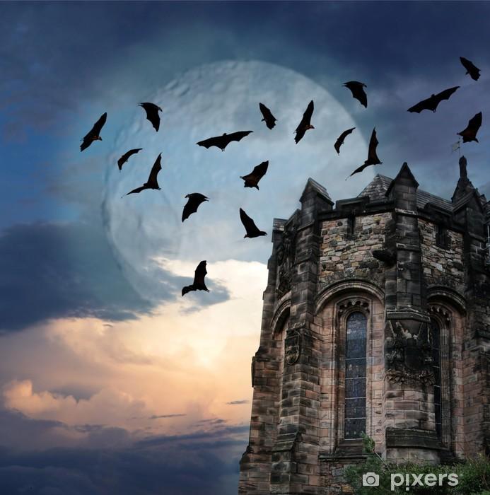 Vinilo Pixerstick Misterio gótico castillo de Edimburgo - Edimburgo