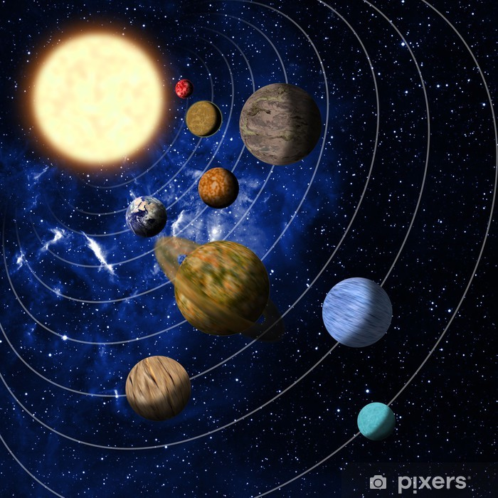 Adesivo Pixerstick Sistema solare - Spazio da decorare