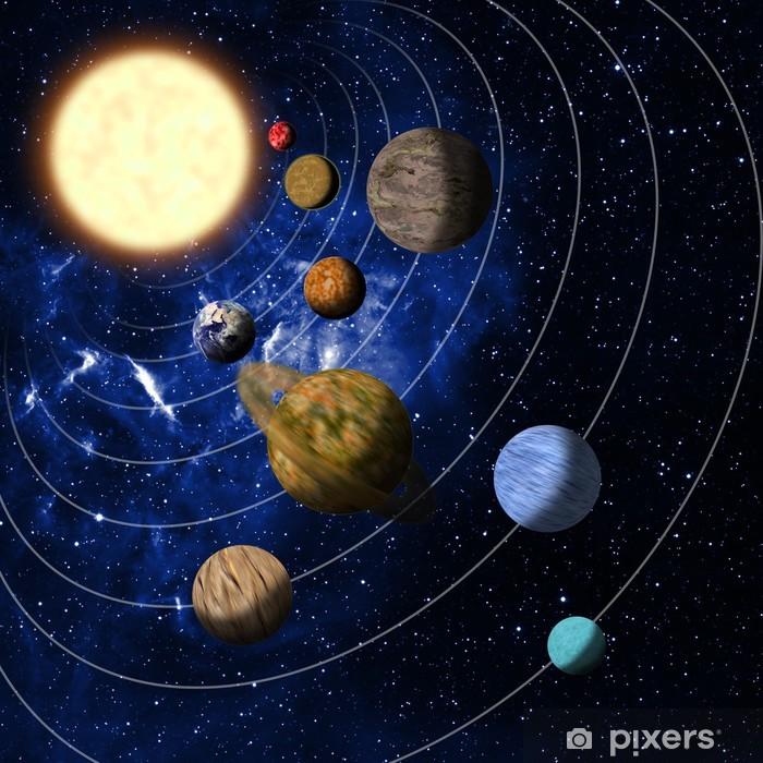 Pixerstick Aufkleber Sonnensystem - Bereich