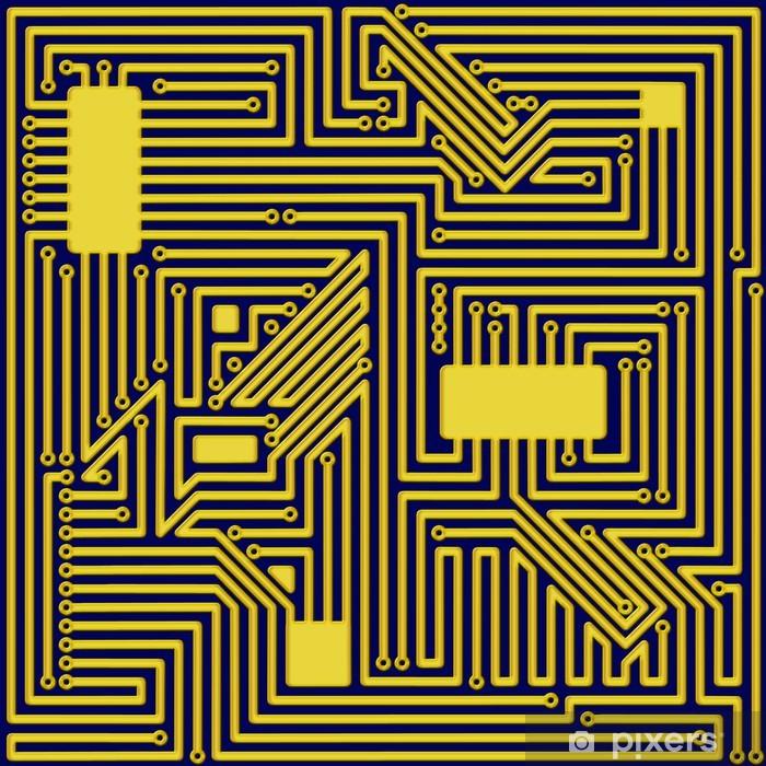 Plakat Obwód komputer Wzór tła - Tła