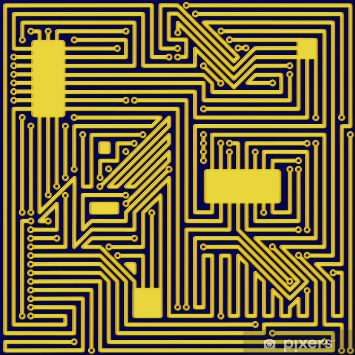 Poster Ein Computer Circuit Board-Hintergrund-Muster - Hintergründe
