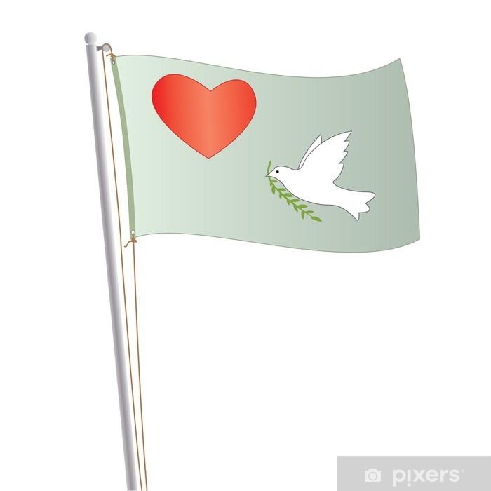 Naklejka Pixerstick Flaga pokoju i miłości - Znaki i symbole