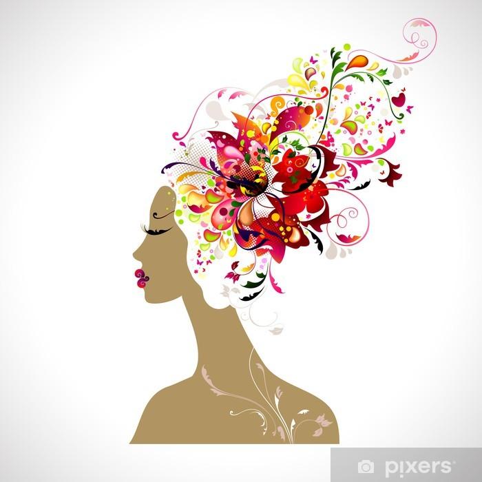 Poster Dekorative Komposition mit Schönheit - Fashion