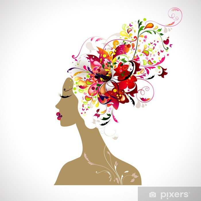 Poster Composition décorative d'une beauté - Mode