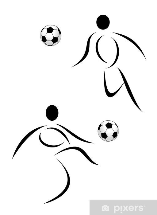 Fototapete Vektor Fussball Symbol