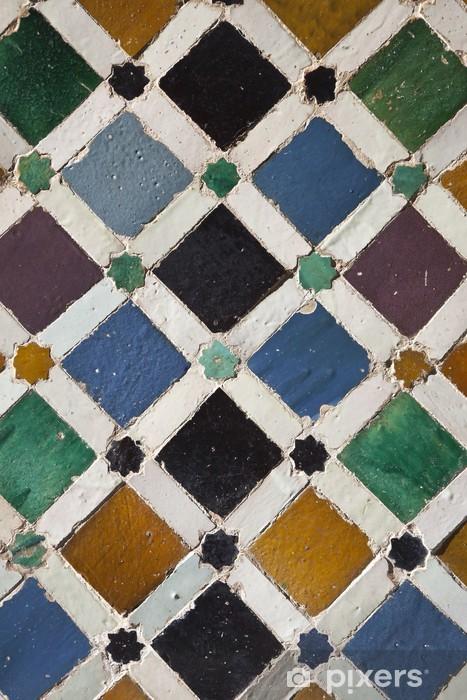 Papier peint vinyle Tuiles de l'Alhambra à Grenade - Monuments