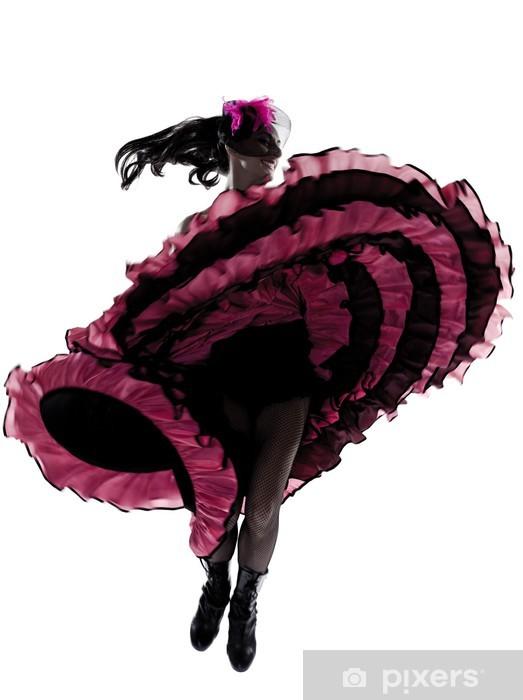 Papier peint vinyle Danseuse danseuse cancan français - Thèmes