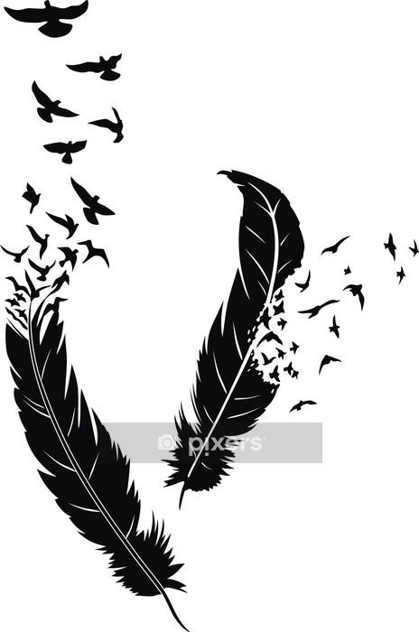 Muursticker Feather -