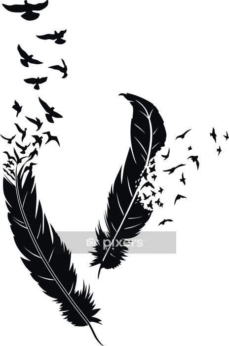 Feather Wall Decal -