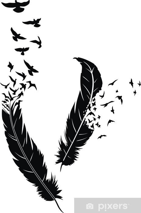 Feather Window & Glass Sticker -