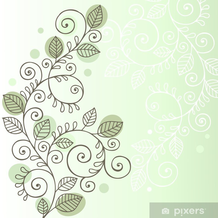 Organic Vines And Leaves Doodle Vector Design Wall Mural Pixers We Live To Change