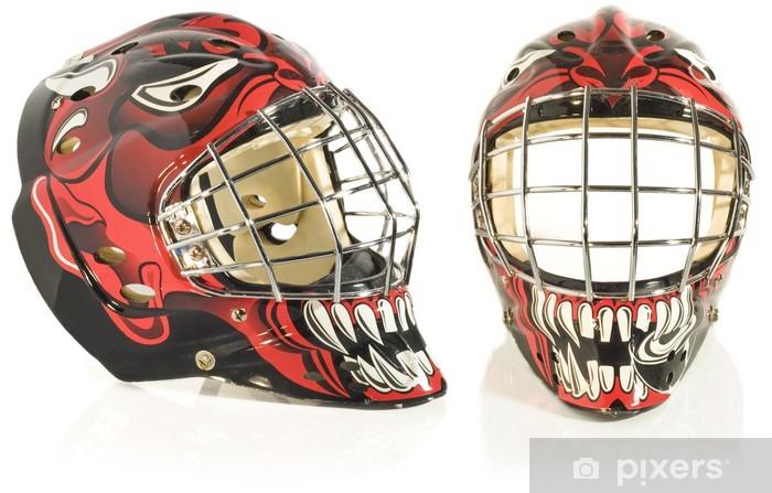 Aufkleber Eishockey Goalie Mask Pixerstick