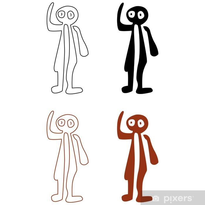 Naklejka Pixerstick Linie Nazca zestaw - ilustracji wektorowych - Tła