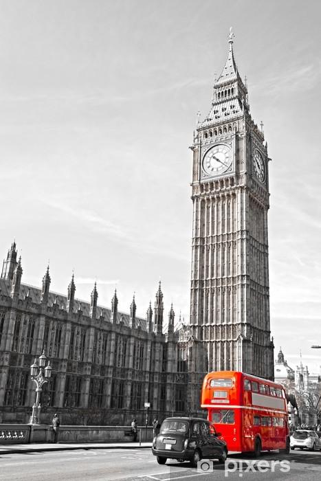 Kaststicker De Big Ben, de Houses of Parliament en de Westminster Bridge -