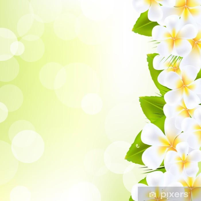 Nálepka Pixerstick Frangipani květiny s listy - Květiny