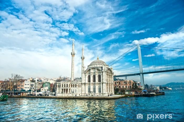 Papier peint vinyle Mosquée d'Ortaköy et Pont du Bosphore, Istanbul, Turquie .. - Thèmes