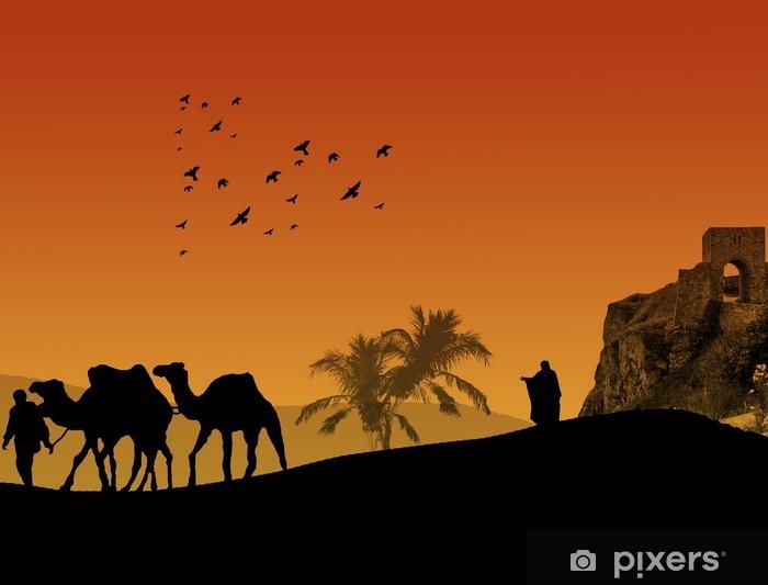 Sticker Pixerstick Sahara fond - Afrique