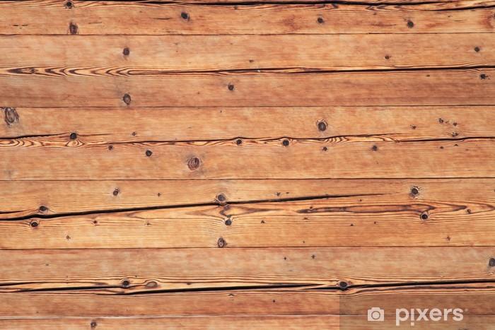 Fotomural Estándar Pared de madera con grietas - iStaging