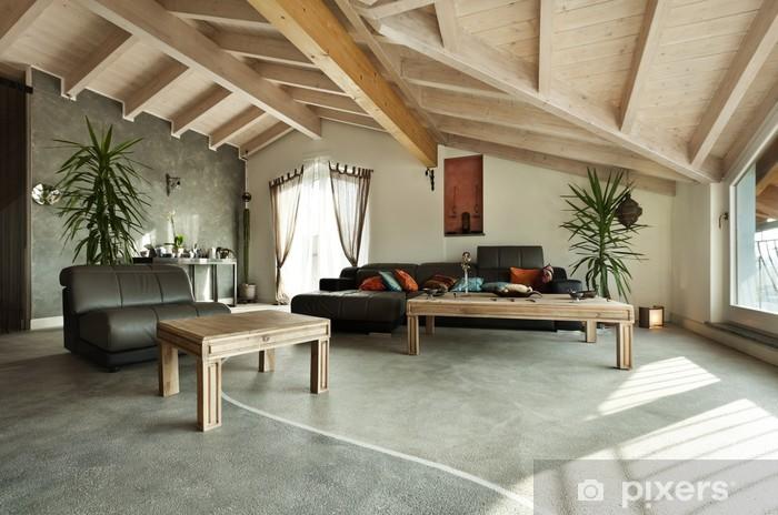 Carta da Parati in Vinile Nuovi interni loft, mobili etnici, soggiorno
