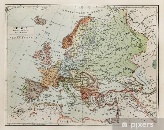 Cartina Europa 700.Carta Da Parati Vintage Mappa Europa Alla Fine Del 19 Secolo Pixers Viviamo Per Il Cambiamento