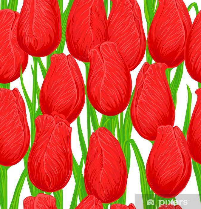 Tulips Vinyl Wall Mural - Seasons