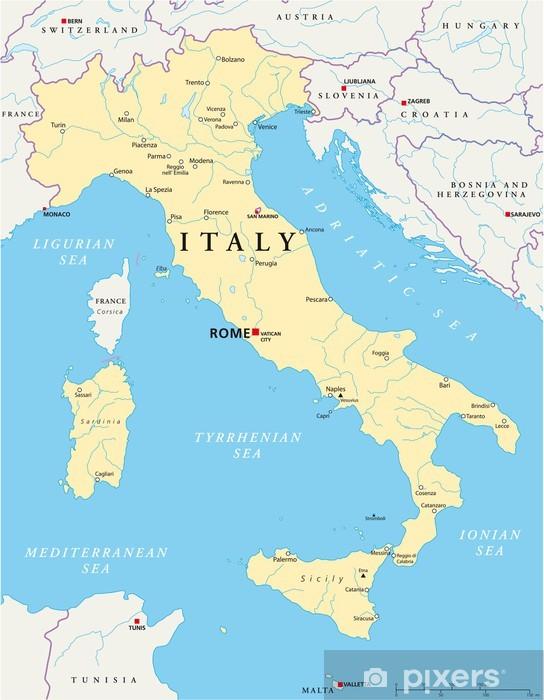 Italien Landkarte Sticker Pixers We Live To Change