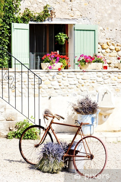 bicycle, Provence, France Vinyl Wall Mural - Themes