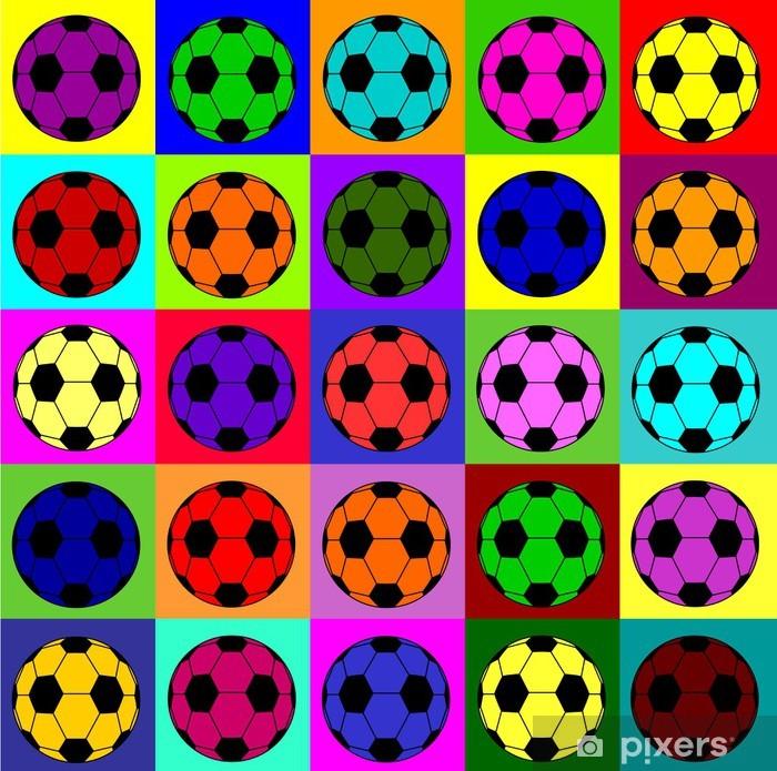 Fototapeta winylowa Warhol piłki - Sporty drużynowe