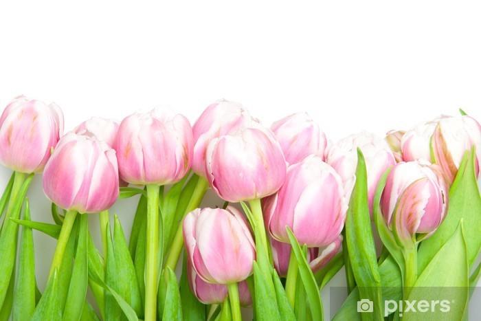 Sticker Pixerstick Tulipes roses - Saisons