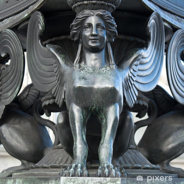 Sticker Pixerstick Statue d'un sphinx - Europe