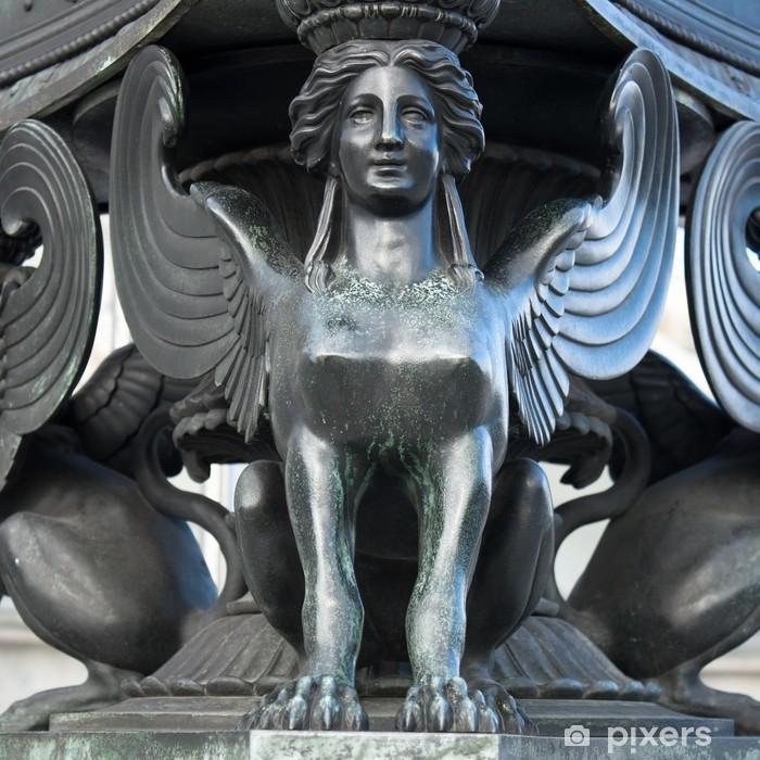 Statue of a sphinx Pixerstick Sticker - Europe