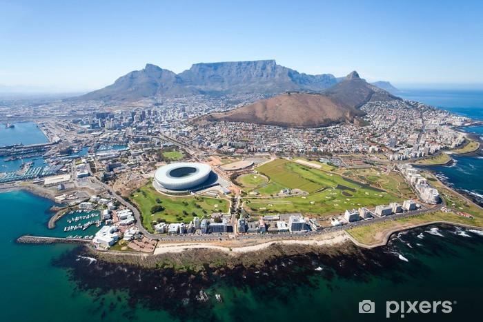 Pixerstick Sticker Algemene luchtfoto van Kaapstad, Zuid-Afrika - Bestemmingen