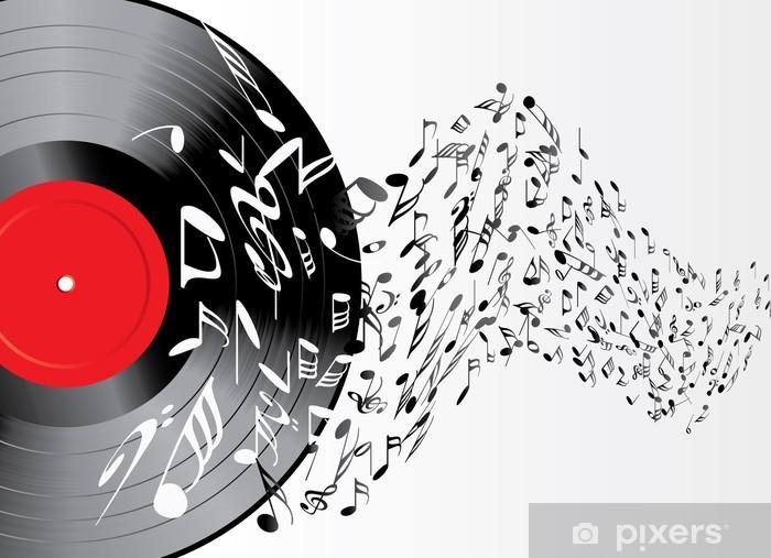 Vinyl Fotobehang VINYL SPELEN - Muziek