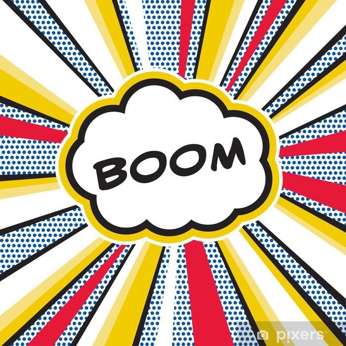 Pixerstick Aufkleber Boom Pop Art - Themen