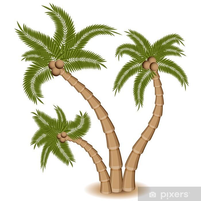 Plakat Grupa trzech Palm Tree - Naklejki na ścianę