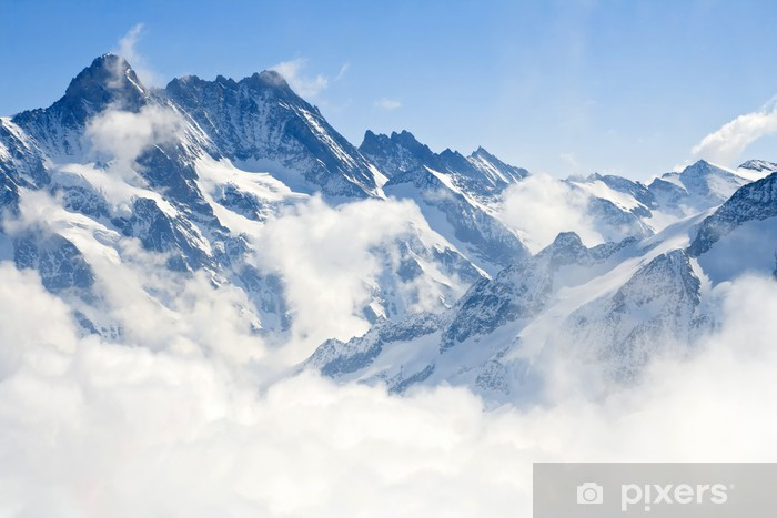 Självhäftande Fototapet Jungfraujoch Alperna fjällandskap - Stilar