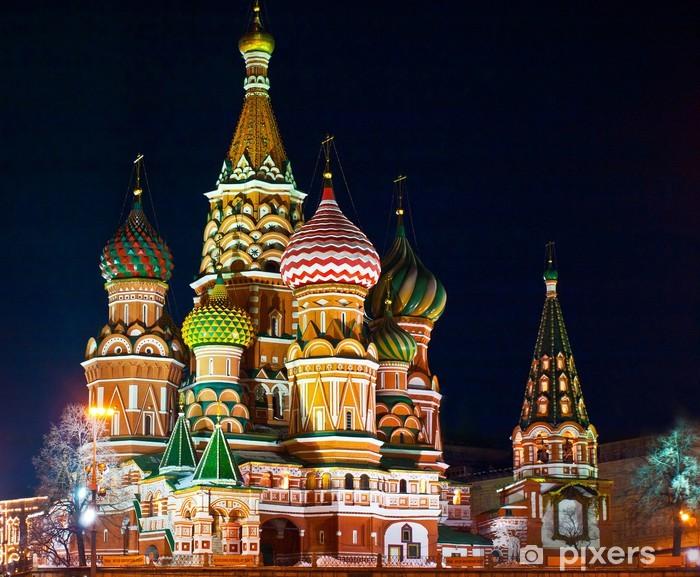 Naklejka Pixerstick Wasyla katedra, Plac Czerwony, Moskwa - Moskwa