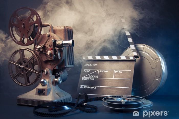 Papier peint vinyle Projecteur vieux film et le film objets - Thèmes