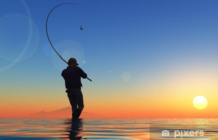 Pixerstick Sticker Fisherman - Buitensport
