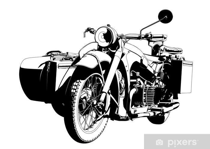 Aufkleber Motorrad Beiwagen Pixerstick