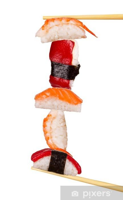 Maxi sushi, eristetty valkoisella pohjalla Vinyyli valokuvatapetti - Kananmunat